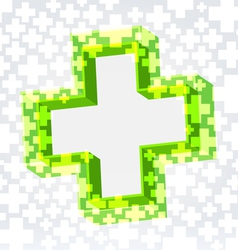 Green cross background vector image