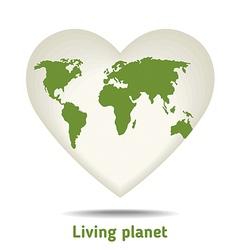 Green heart vector