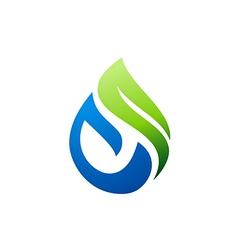 Green nature bio water logo vector