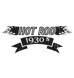 Hot Rod logo vector image