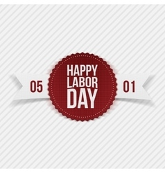 International Labor Day May 1st realistic Banner vector image
