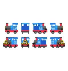 Light blue toy locomotive vector