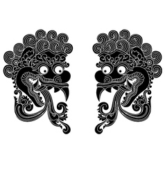 Mythological gods head indonesian traditional art vector