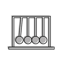 newton pendulum isolated icon vector image