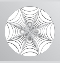 Paper spider web origami halloween decoration vector