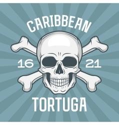 Pirate insignia concept caribbean tortuga island vector