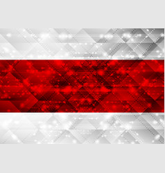 Red and grey shiny abstract sparkling tech vector