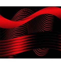 Red wavy background vector
