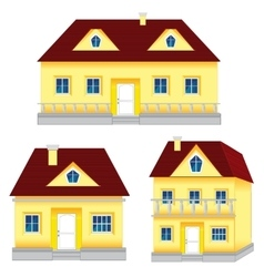 Several houses vector image
