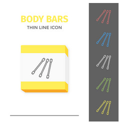 simple line stroked handle body bars icon vector image vector image