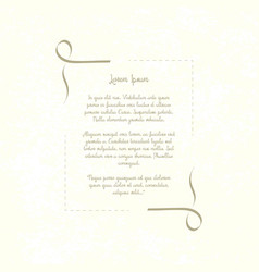 vintage decorative frame retro template place for vector image vector image