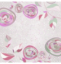 Vintage floral background vector image vector image