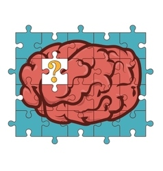 Puzzle brain organ vector