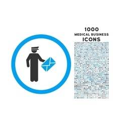 Postman rounded icon with 1000 bonus icons vector