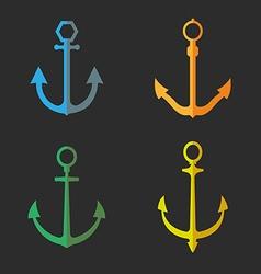 Set of anchor symbols or logo vector image