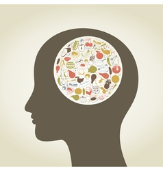 Head food4 vector image