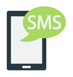 Sms flat icon contact us and website vector