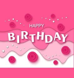 Happy birthday greeting card and party invitation vector