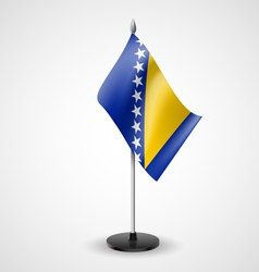 Table flag of bosnia and herzegovina vector