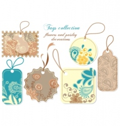 Tags collection vector