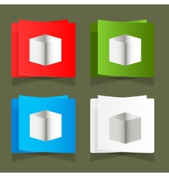 Set of simple square packages for packing vector