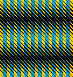 Yellow and blue lines seamless pattern vector