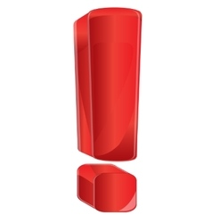 Red exclamation point vector