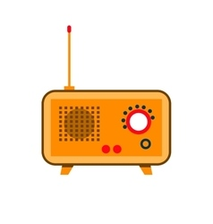 Isolated icon vintage old radio with antenna vector