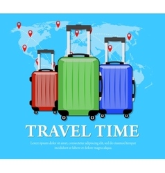 Travel concept flat banner vector