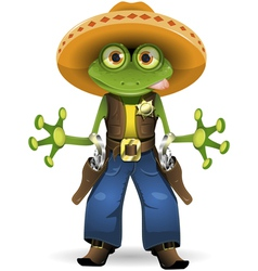 frog sheriff vector image