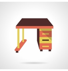Empty work table flat color design icon vector