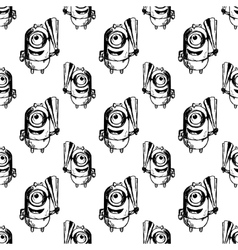 Seamless patterbn with minion vector