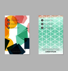 abstract brochure composition in business style vector image vector image