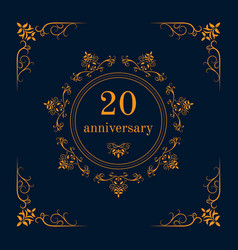 Anniversary celebration card vector