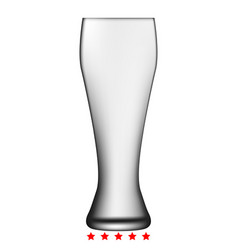beer glass icon color fill style vector image