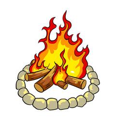 bonfire pop art vector image vector image