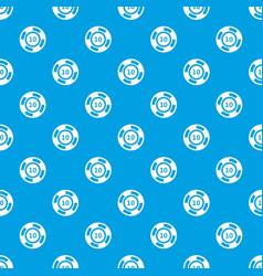 Casino chip pattern seamless blue vector