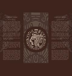 Ethnic booklet vector