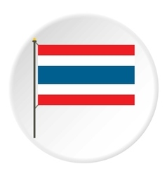 Flag of thailand icon flat style vector