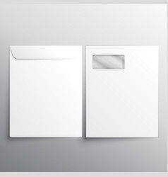 Full letterhead envelope with fron and back side vector