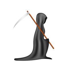 Grim reaper with scythe vector