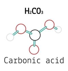 H2CO3 Carbonic acid molecule vector image