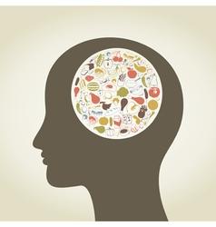 Head food4 vector