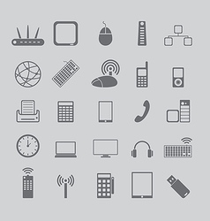 icons for media and cell phones vector image vector image