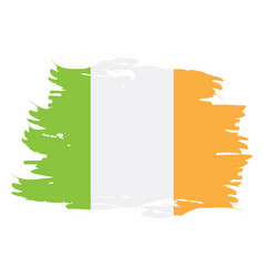 Isolated irish flag vector