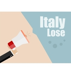 Italy lose Flat design business vector image vector image