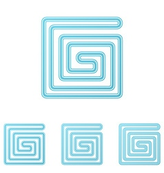 Light blue technology logo design set vector image vector image