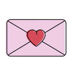 love envelope isolated icon vector image vector image
