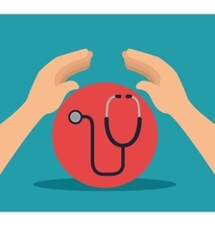 medical stethoscope tool vector image