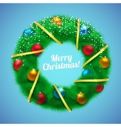 New Year and Christmas background vector image